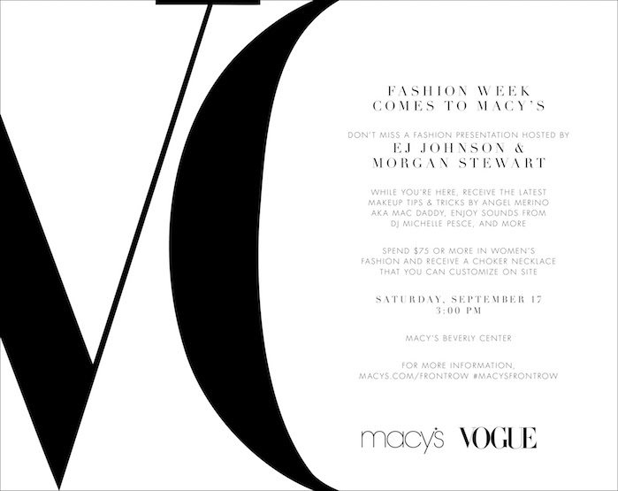 Macy's and VOGUE Present Fashion's Front Row