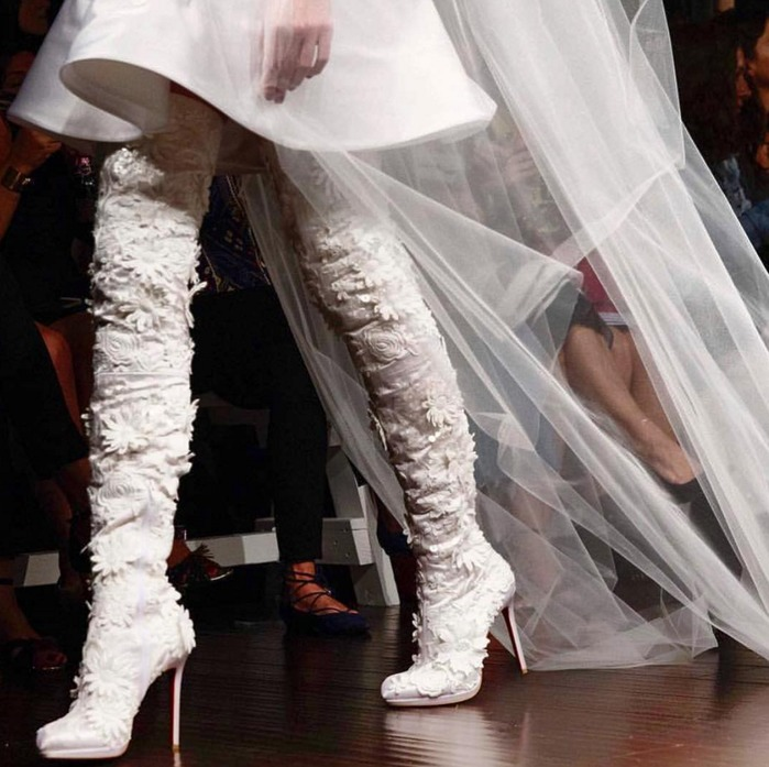 Bridal boots: Christian Louboutin collaboration