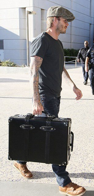 "David Beckham with Globe-Trotter Centenary 21"" Trolley Case"