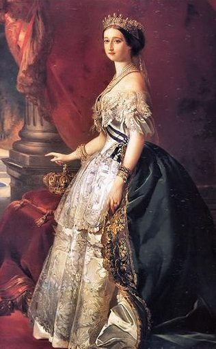 "French Empress Eugenie wears some of the world's first ""haute couture"""