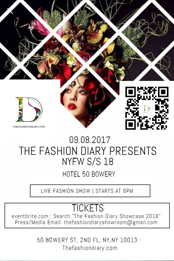 The fashion diary showcase nyfw s s 18 fashion week online for Fashion show ticket template