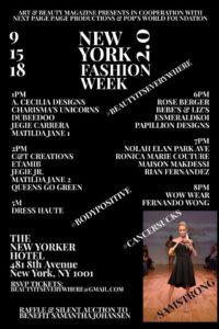 New York Fashion Week 2.0 FREE Show and Fundraiser!