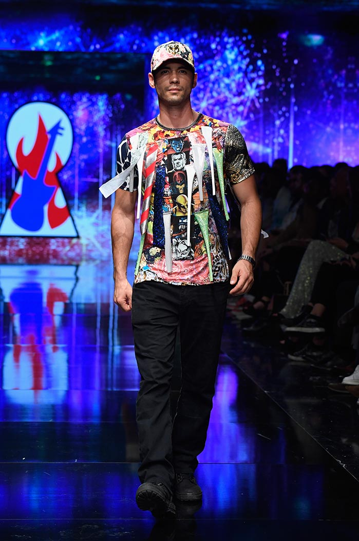Burning Guitars at Los Angeles Fashion Week Powered by Art Hearts Fashion LAFW SS/19