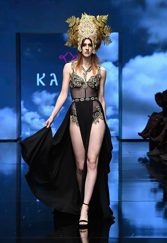 Kahini Couture at Los Angeles Fashion Week Powered by Art Hearts Fashion LAFW SS/19
