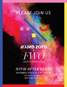 Fashion Week Online VIP x Flying Solo Party