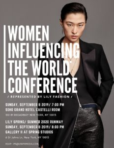 Women Influencing the World Conference represented by Lily Fashion