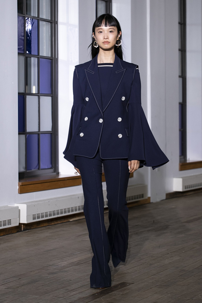 Runway look from the ADEAM Fashion ShowReady to wear Collection spring Summer 2020 in New York