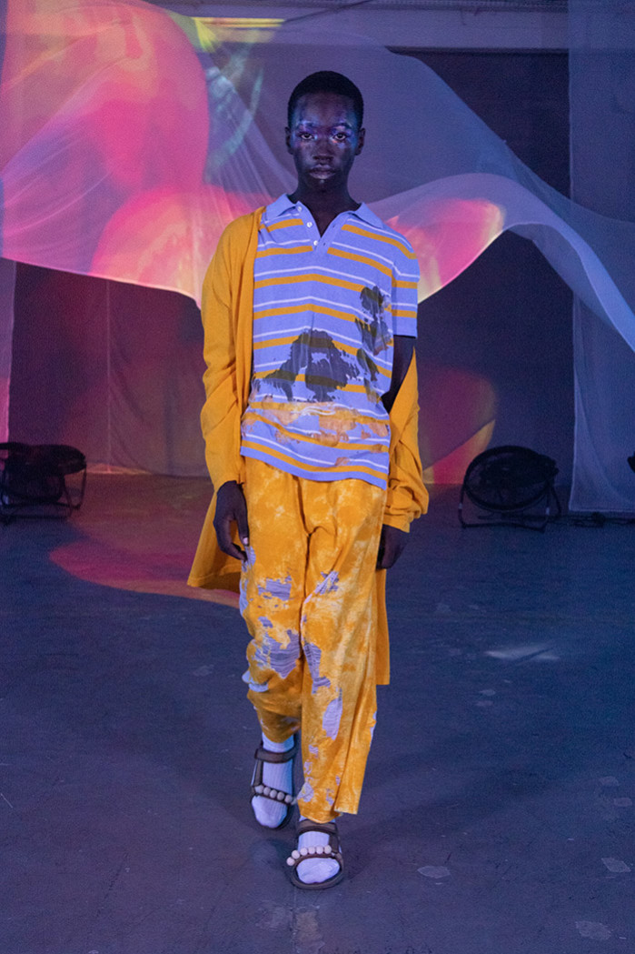 Runway look from the Ka Wa Key Fashion ShowReady to wear Collection spring Summer 2020 in Milan